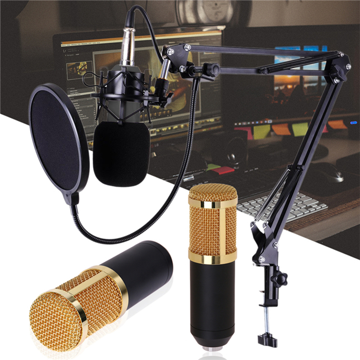 Full Set Bm 800 Condenser Microphone Kit Microphone For Computer Shock Mount Foam Cap Cable As Bm 800 Microphone Bm800 Buy Professional Bm 800 Condenser Microphone Kit Kit Microphone Microphone Bm800 Product On Alibaba Com