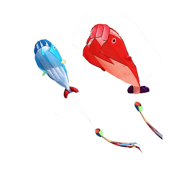 Single line easy flying no frame dolphin soft kite