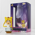 2Pcs Lot Sailor Moon Action Figure Princess Tsukino Usagi Q Version Big Eyes Ruby Crown Yellow