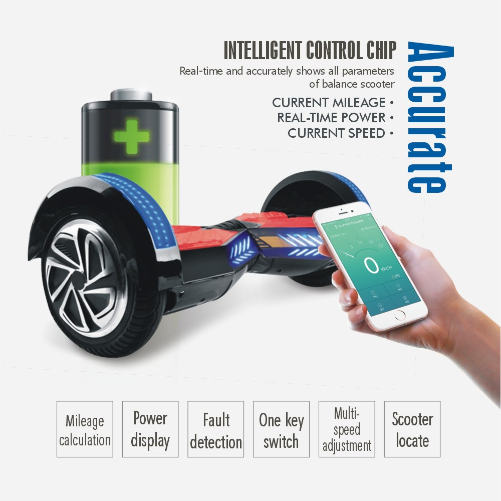 2016 newest bluetooth hoverboard 8 inch app control green. Black Bedroom Furniture Sets. Home Design Ideas