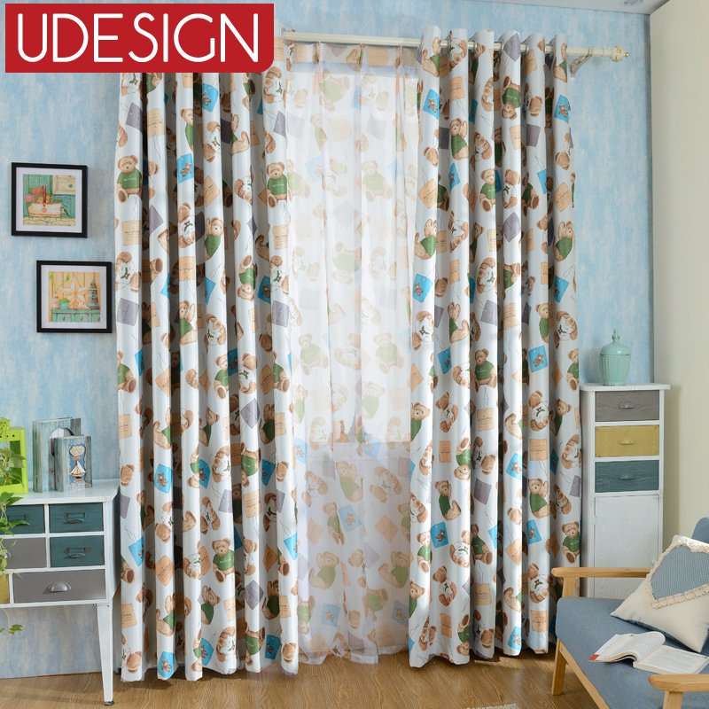 Cartoon boy car curtains for bedroom living room printed - Childrens bedroom blackout curtains ...