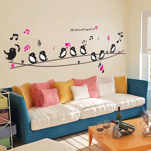Buy 1 Get 1 Minion Birds Singing Music DIY Wall Decor Wall ...