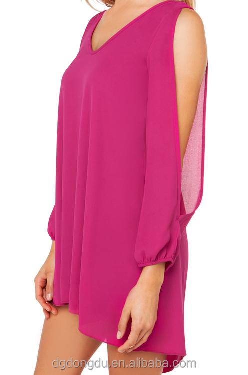 Langarm mit offenen Arm chiffon-kleid für damenGroßhandel, Hersteller, Herstellungs