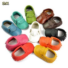 Via Fedex EMS New Genuine Leather Soft Baby Shoes First Walkers Baby Moccasins Anti slip Infant