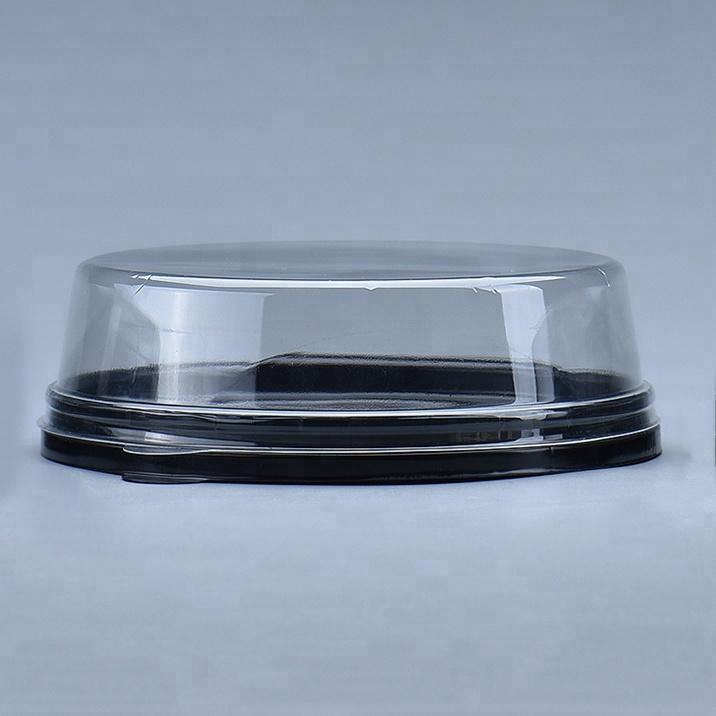 Перерабатываемый блистерный упаковочный контейнер, круглая прозрачная пластиковая коробка для тортов