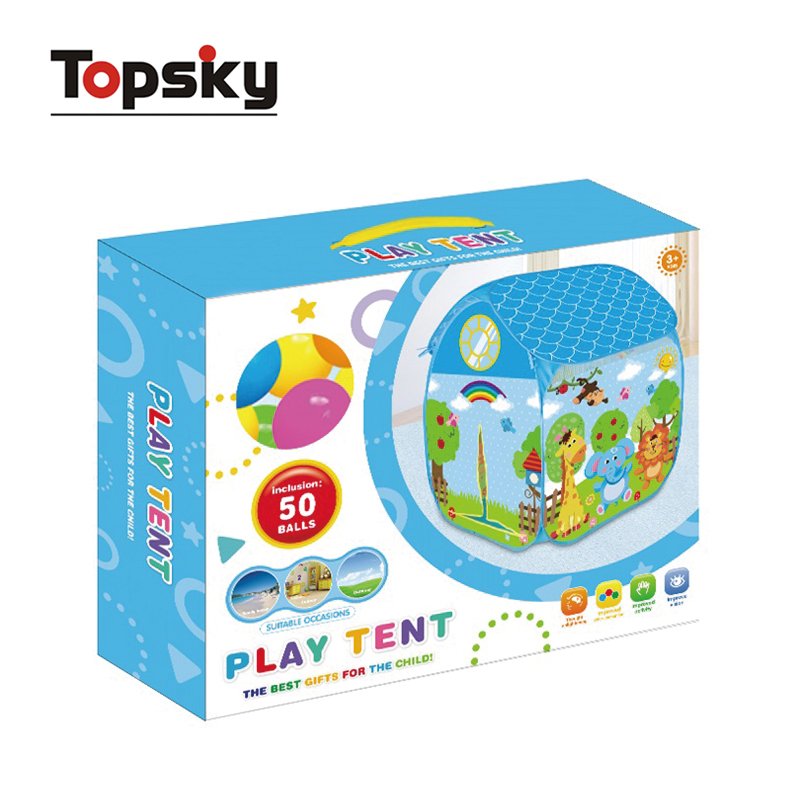 Lovely outdoor play tent toy for children foldable kids tent house with 50pcs ball