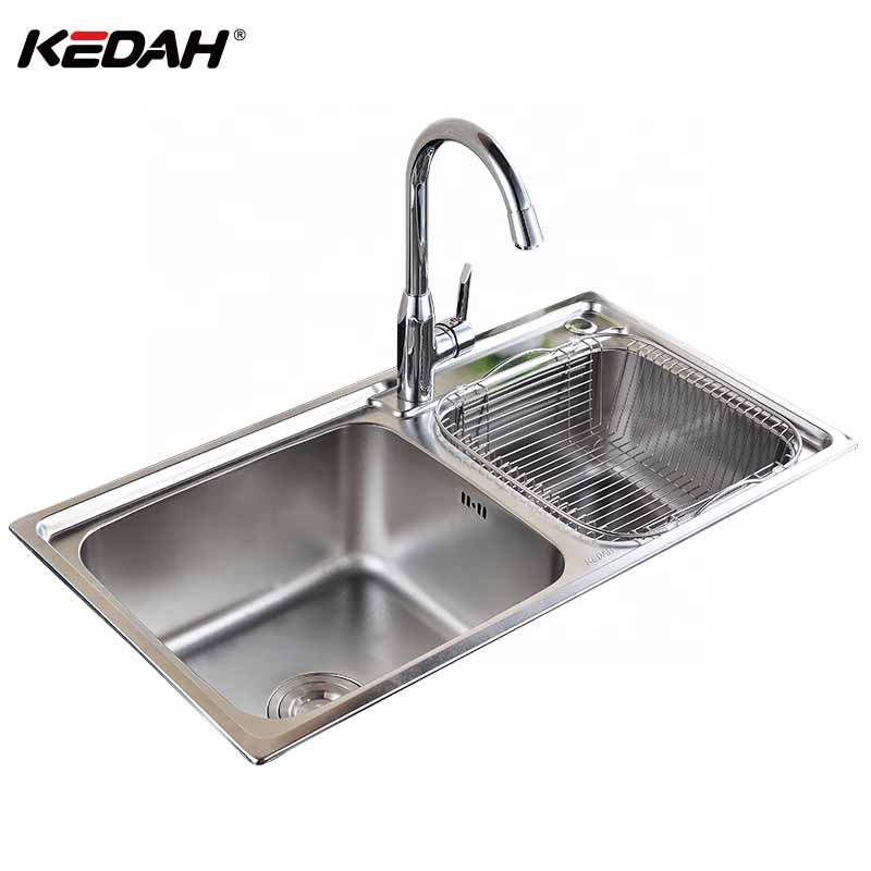 Discount Price Cheap 304 Stainless Steel Double Bowl Deep Kitchen Sink With Strainer Buy Kitchen Sink Stainless Steel Kitchen Sink 304 Kitchen Sink Product On Alibaba Com