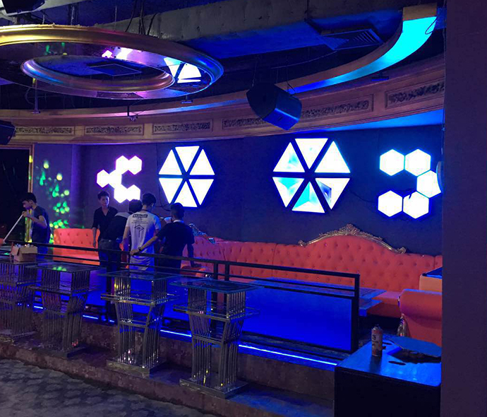 Decorative Nightclub And Bar Rgb Color Changing Diy 3d