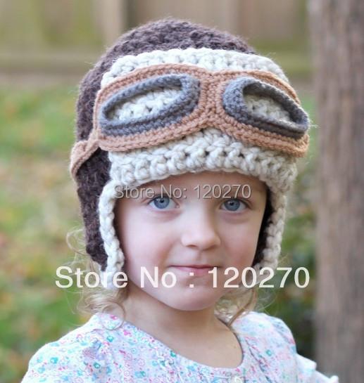 Free Shipping Handmade Crochet Aviator Hat Pattern Knitted