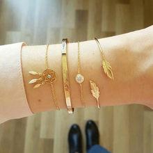Богемный многослойный золотой бисер серебряного цвета с блестками, Набор браслетов для женщин, ювелирные изделия, цепочка для ног, аксессуа...(Китай)