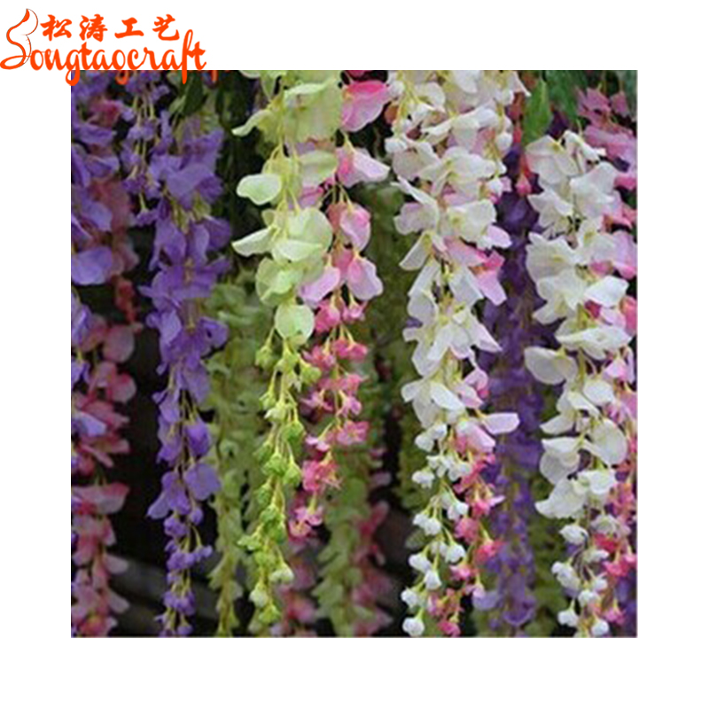 2016 Cheap Artificial Flower Decoration For Home School Garden Buy Cheap Artificial Flower Fake Flowers Artificial Wisterial Flower Product On Alibaba Com