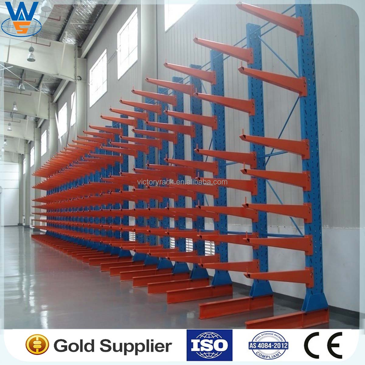 Used Car Warehouse: Cantilever Rack Widely Used In Warehouse For Storage Steel