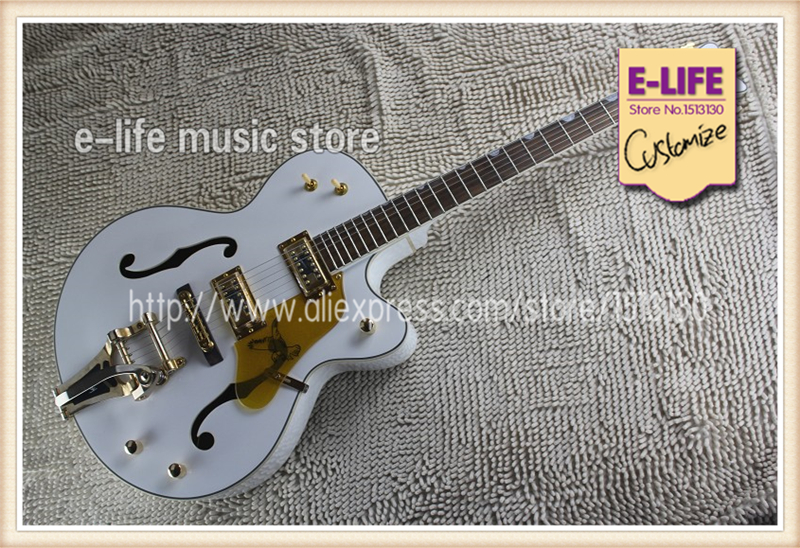 best price jazz hollow guitar gretsch white falcon g6120 electric guitar china muscial. Black Bedroom Furniture Sets. Home Design Ideas