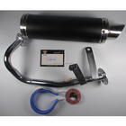 Gy6 Muffler Motorcycle Muffler GY6 50cc Universal Titanium Motorcycle Scooter Exhaust Pipe Muffler Silencer