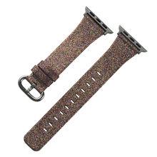 Для Apple Watch Series 5 4 3 2 1 ремешок Блестящий кожаный Рождественский блестящий роскошный браслет ремешок для iWatch 44 мм 42 мм 40 мм 38 мм(Китай)
