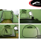 Tunnel Tents 2 Room Tent Classic Waterproof Fireproof 4 Season Double Wall 2 Room Motor Cycling Tunnel Camping Family Tents With Large Porch