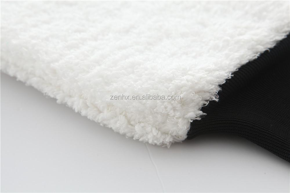 White Color Premium Microfiber Plush Car Wash Mitt