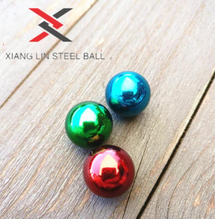 steel balls colored