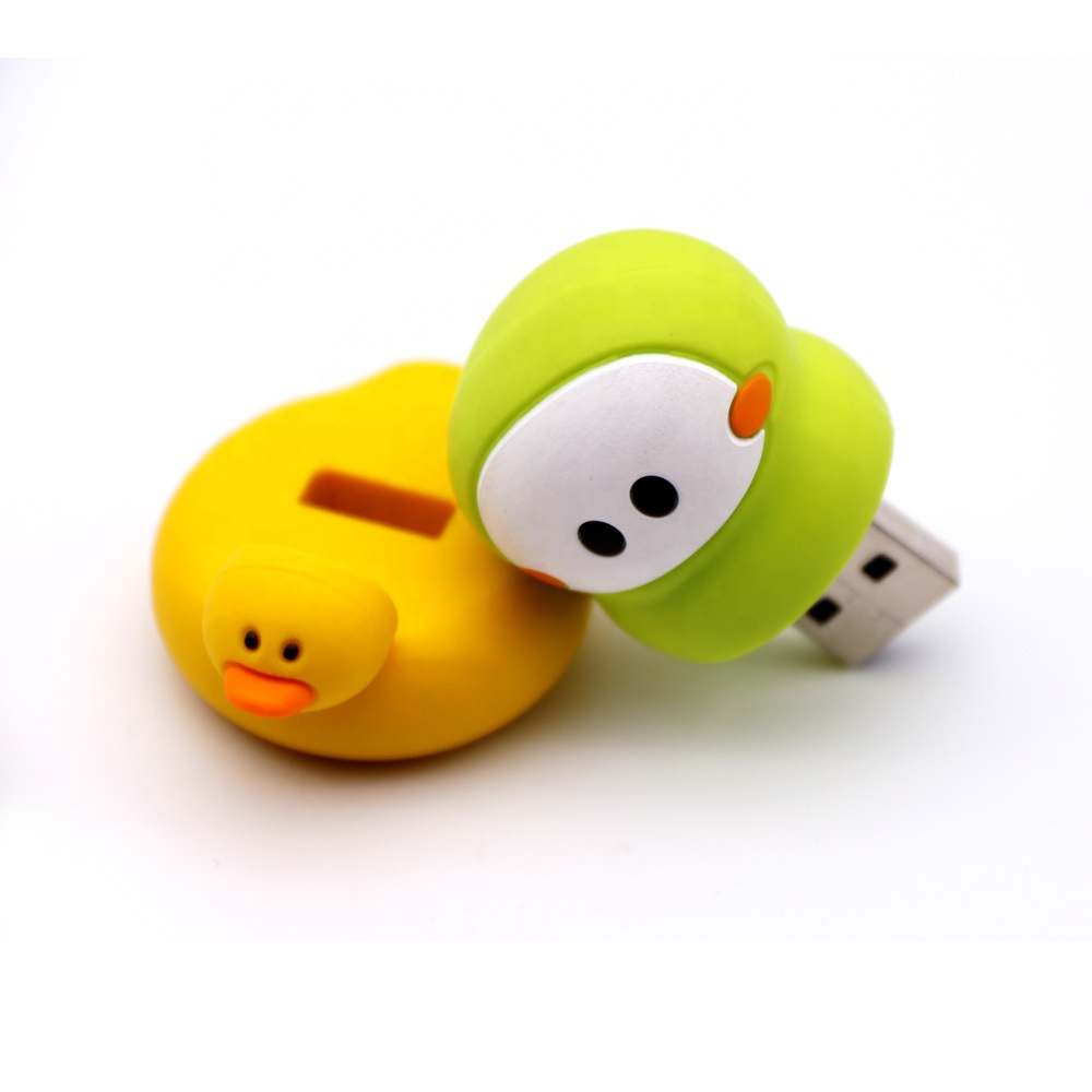 100% Real capacity memory stick 32gb rubber duck yellow 64gb Usb Flash Drive 4g 8g 16g Animal pen drive - USBSKY | USBSKY.NET