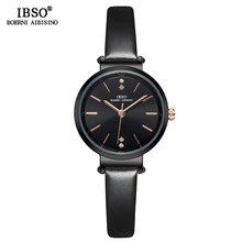 Женские ультра-тонкие наручные часы IBSO, модные кварцевые часы для женщин, 8 мм, 2020(China)