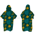 Terry Towel Microfiber Poncho Customized Printed Beach Poncho Microfiber Terry Surf Poncho Towel Changing Robe