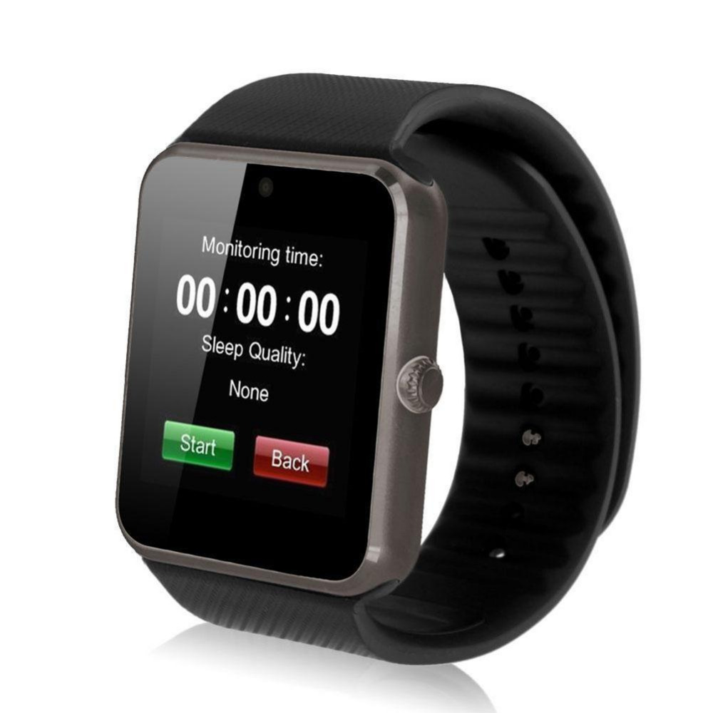 GT08 MTK SmartWatch Clock Sync Notifier W/ SIM Card GSM Bluetooth For Android