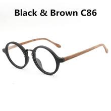 HDCRAFTER винтажные деревянные круглые очки, оправа для очков для близорукости, прозрачные линзы для женщин, деревянные очки для чтения(Китай)