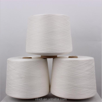 Alibaba gold supplier single yarn pure virgin ring spun polyester yarn 45S