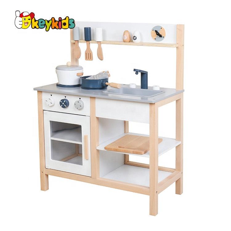 2021 Современная Белая деревянная игрушка для кухни, деревянная игрушка «сделай сам» для детей, деревянная игрушка для кухни