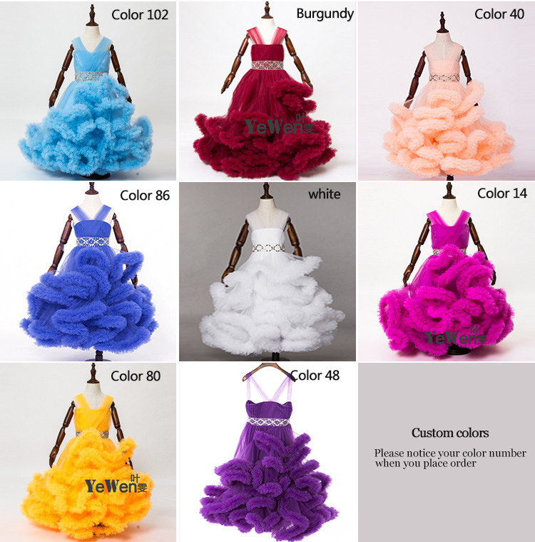 Cloud little flower girls dresses for weddings Baby Party frocks sexy children images Dress kids prom dresses evening gowns 2016 3
