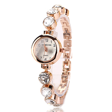 2016 Summer Style Gold Watch Brand Watch Relojes Women Wristwatch Ladies Watch Clock Female Wristwatches Stainless Gold !1XR720