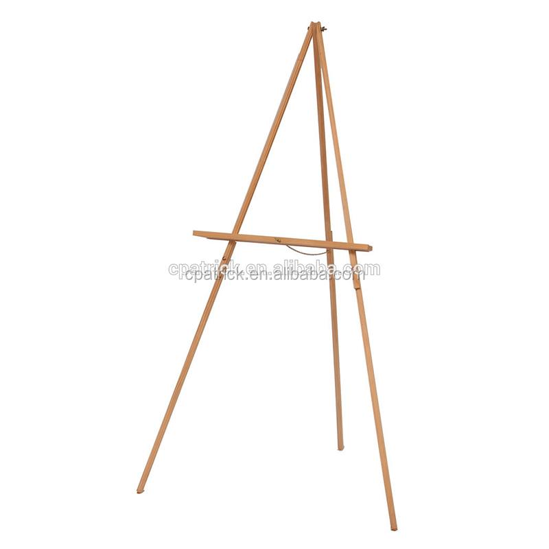 Studio Foldable Adjustable Height Pine wood Portable Tripod easel