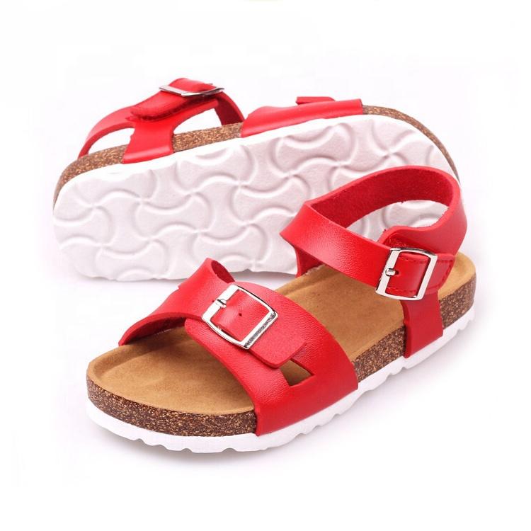 Прямая продажа с фабрики, детские сандалии с био-пробковой подошвой и Регулируемыми пряжками для мальчиков