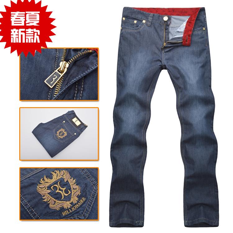 949b8d8c6de миллиардер итальянской моды одежда Джинсы модные вышивки Штаны мужские