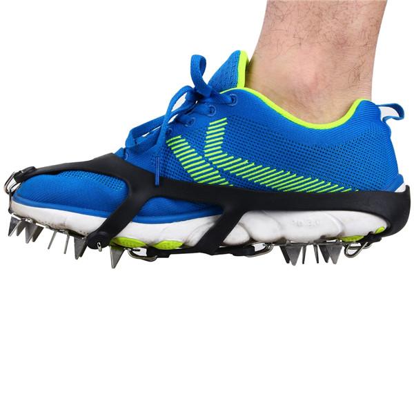 10 Zähne Schuhe Steigeisen Anti Slip Spikes für Bergsteigen Wandern Ski