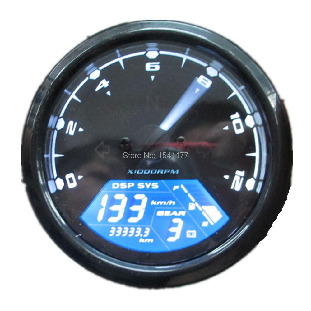 Universal Lcd Digital Speedometer Odometer Motorcycle