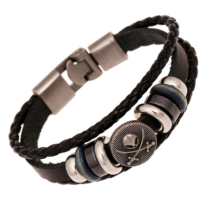 Cool fashion bracelet for men women leather bracelets ...