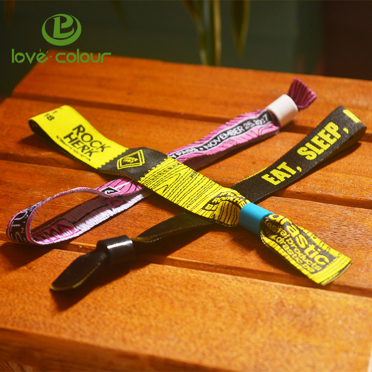 Factory price Custom Event Promotion Cloth Fabric polyester wristband bracelets