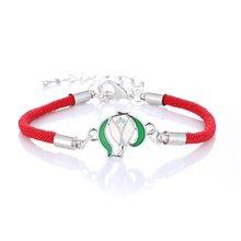 Классический Новый счастливый Регулируемый Красный веревочный женский браслет кулон ювелирные изделия Древо жизни женские модели браслет...(Китай)