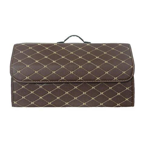 LUNDA автомобильный ящик для багажника, складной органайзер для хранения багажника, искусственная кожа, высокая вместимость, подстилка, аксес...(Китай)