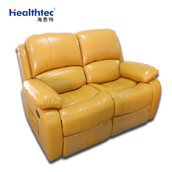 Cheers Furniture Company: Cheers Leather Manual Recliner Sofa