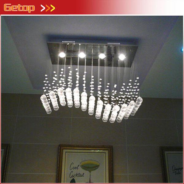 Best Overhead Shop Lights: Best Price Wave Shaped K9 Crystal Chandeliers LED Hanging