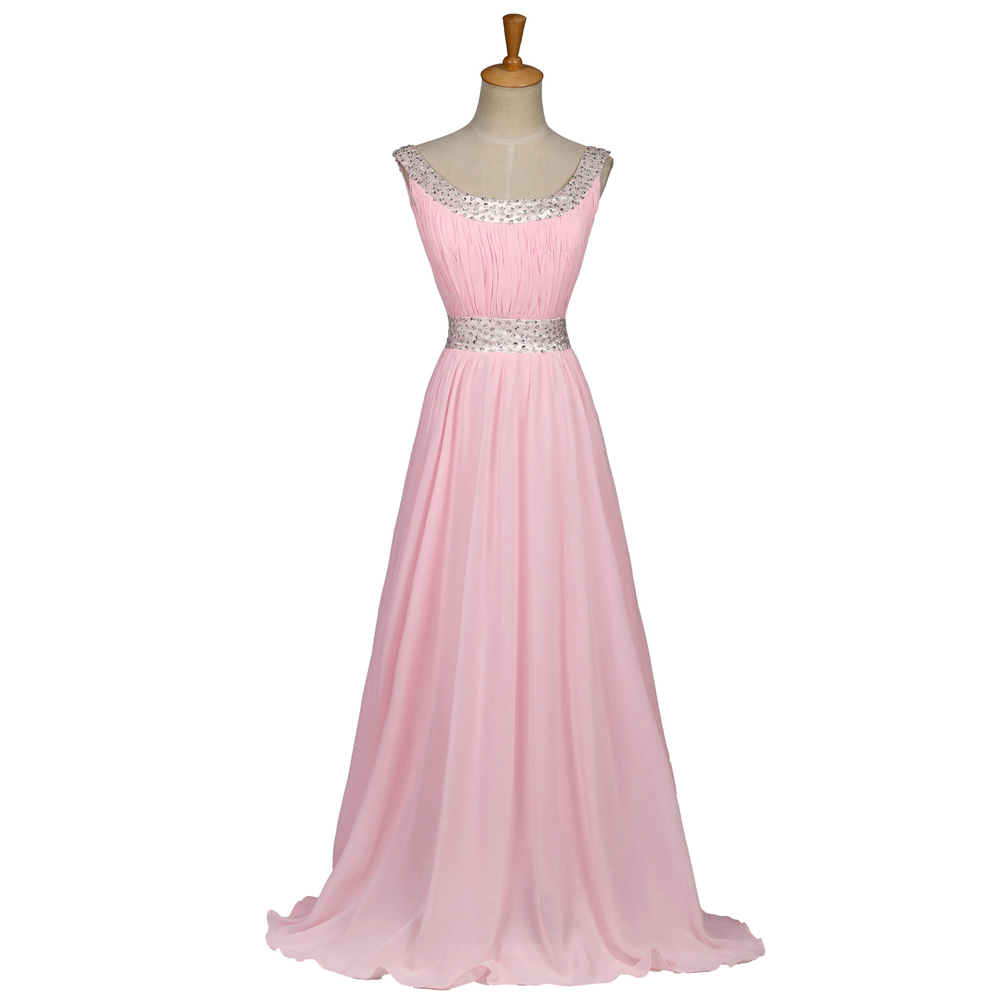 2016 new chiffon long pink bridesmaid dress in stock. Black Bedroom Furniture Sets. Home Design Ideas