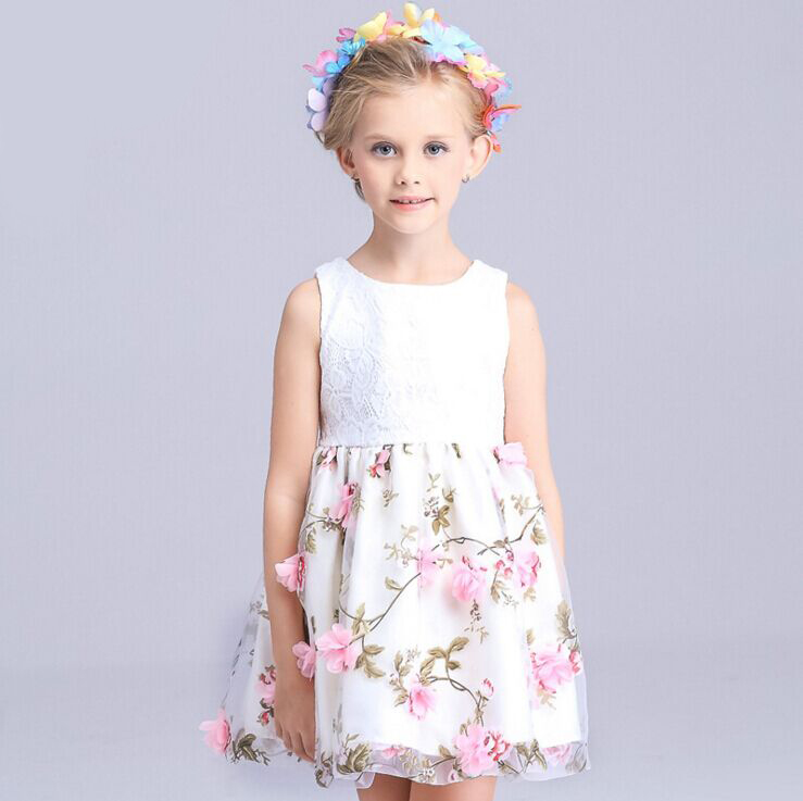 Chrismas Baby Girl Princess Party Pearl Lace Tulle Flower Gown font b Fancy b font font