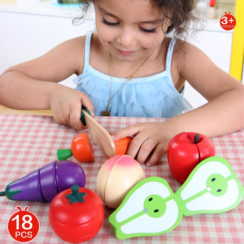 Детские игрушки, новинка 2016, стильный магнитный Набор из мультфильмов и овощей, деревянные игрушки