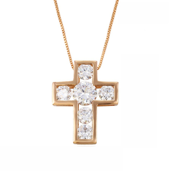 32709 xuping jewelry rose gold plated modern cross pendant, pendant necklace