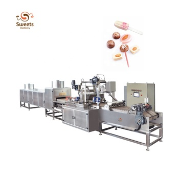 Double Color Fully Automatic Small Flat Lollipop Making Machine