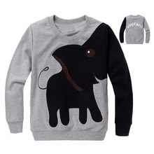 Free shipping New Elephant children sweater boy girl Pullover top shirts Hooded Sweater hoodie