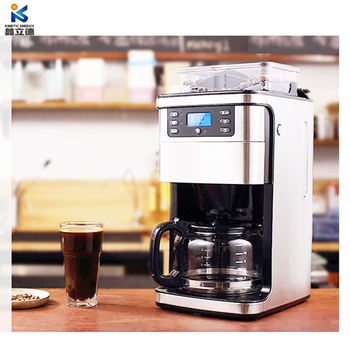 Home using coffee equipment espresso with grinds coffee beans function