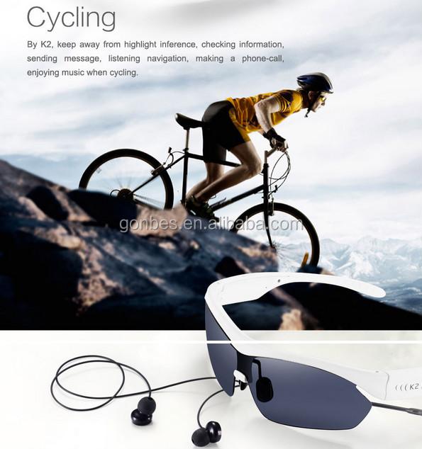 Polarized mp3 cycling sunglasses